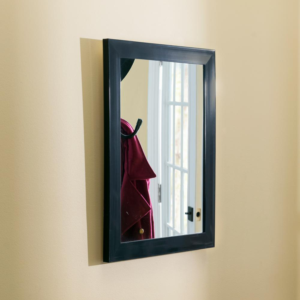 Home Basics Black Wall Mirror was $14.99 now $9.16 (39.0% off)
