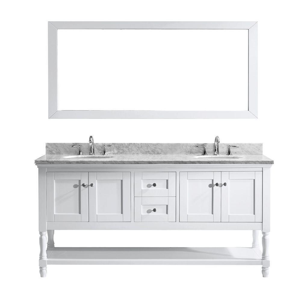 mirror 36 x 72. virtu usa julianna 72 in. w x 36 h vanity with marble mirror