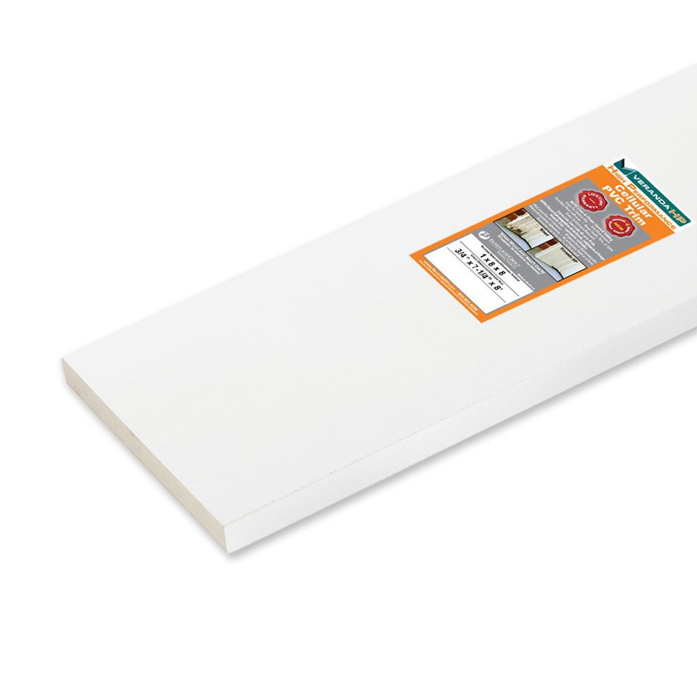 Veranda HP 3/4 in. x 7-1/4 in. x 8 ft. High Performance White Cellular PVC Trim Board