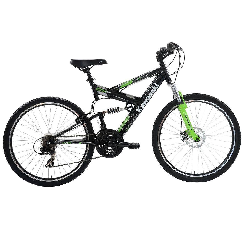 Kawasaki DX Full Suspension Mountain Bicycle, 26 in. Wheels, 19 in ...