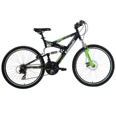 DX Full Suspension Mountain Bicycle, 26 in. Wheels, 19 in. Frame, Men's Bike in Black/Green
