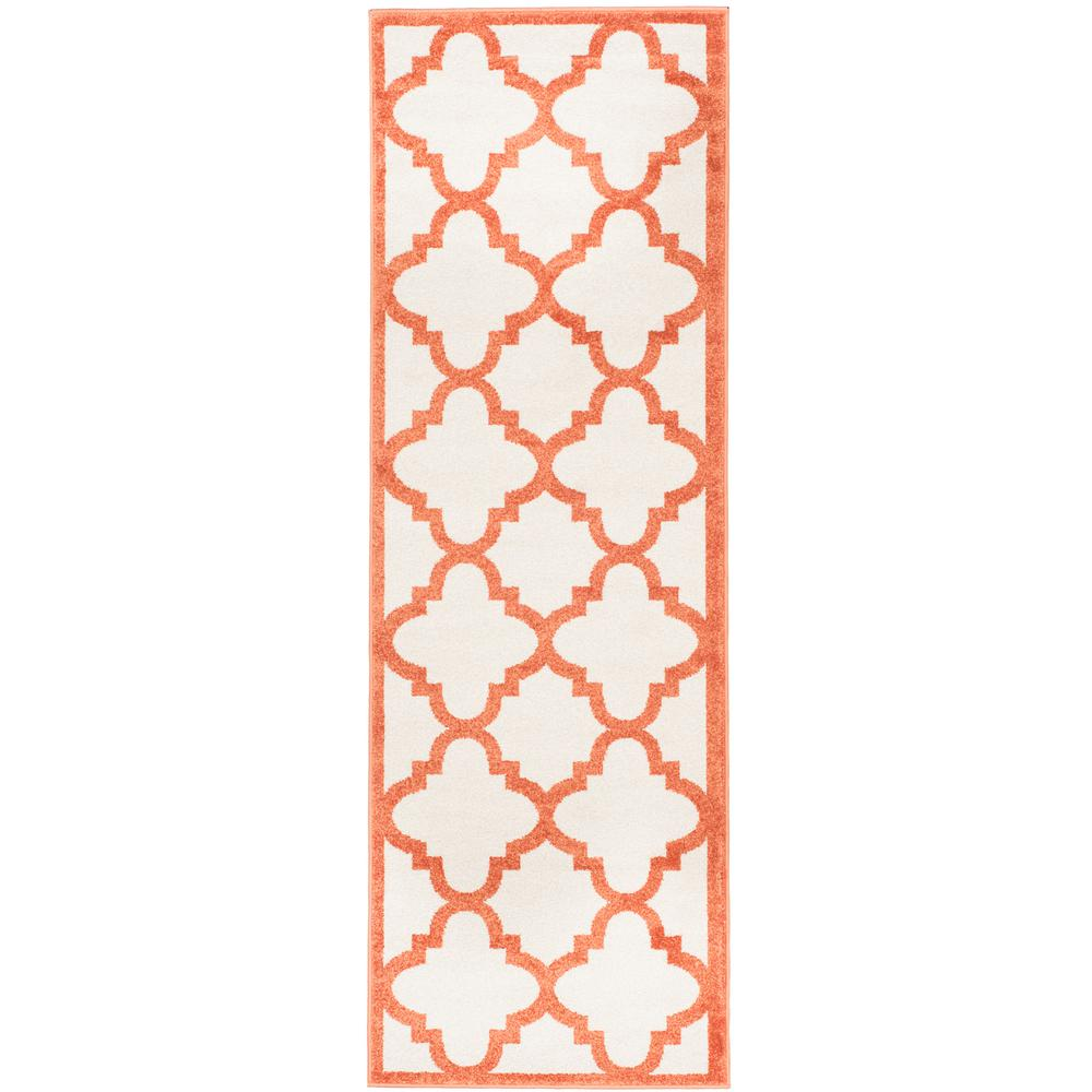 Magnificent Safavieh Amherst Beige Orange 2 Ft X 7 Ft Indoor Outdoor Runner Rug Download Free Architecture Designs Ferenbritishbridgeorg