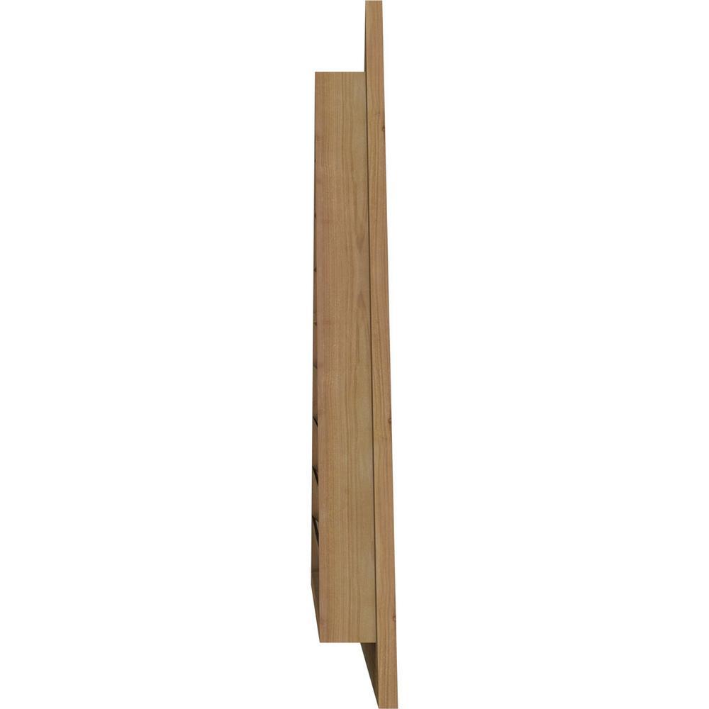 Ekena Millwork 71 125 X 26 625 Triangle Rough Sawn Western Red Cedar Wood Gable Louver Vent Functional Gvwtr56x2101rfuwr The Home Depot