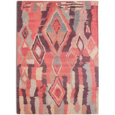 Casablanca Bohemian Geometric Blush 5 ft. x 7 ft. Area Rug
