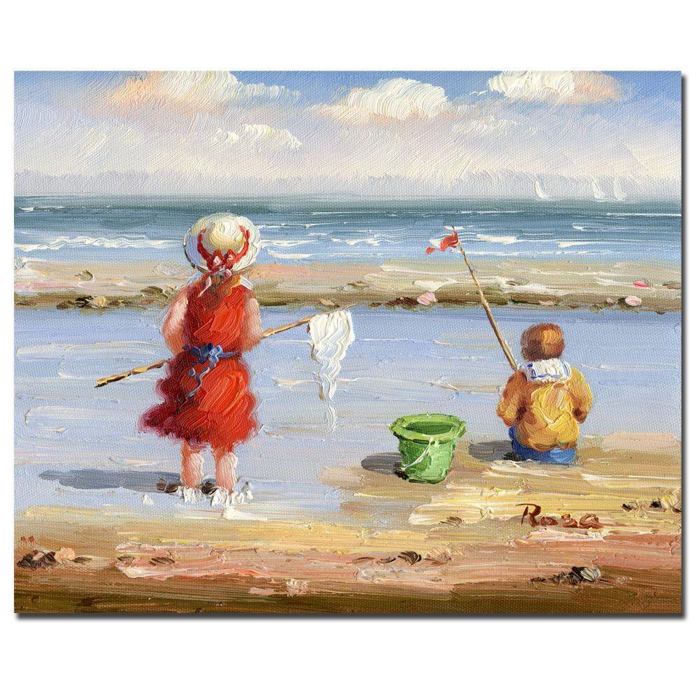 Trademark Fine Art 26 in. x 32 in. At the Beach II Canvas Art