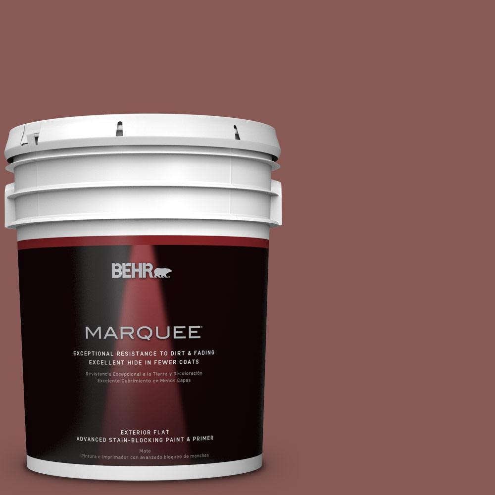5-gal. #PPU1-9 Red Willow Flat Exterior Paint