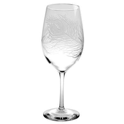 Peacock 18 oz. Clear AP Wine Glass (Set of 4)