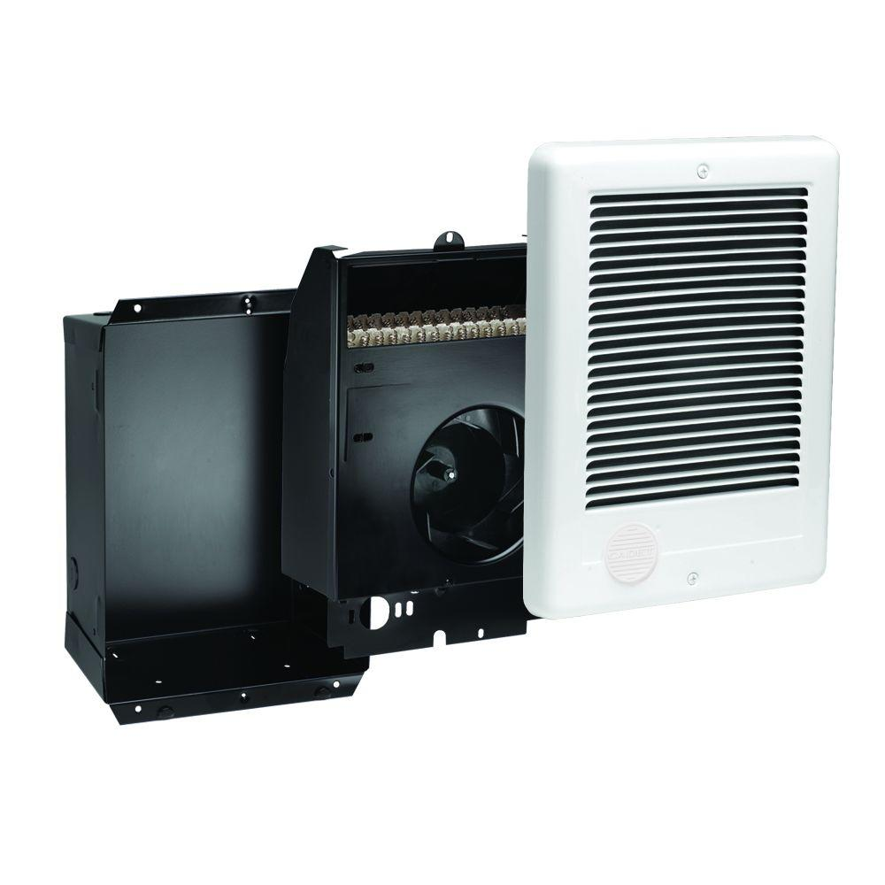Com-Pak 2,000-Watt 240-Volt Fan-Forced In-Wall Electric Heater in White, No