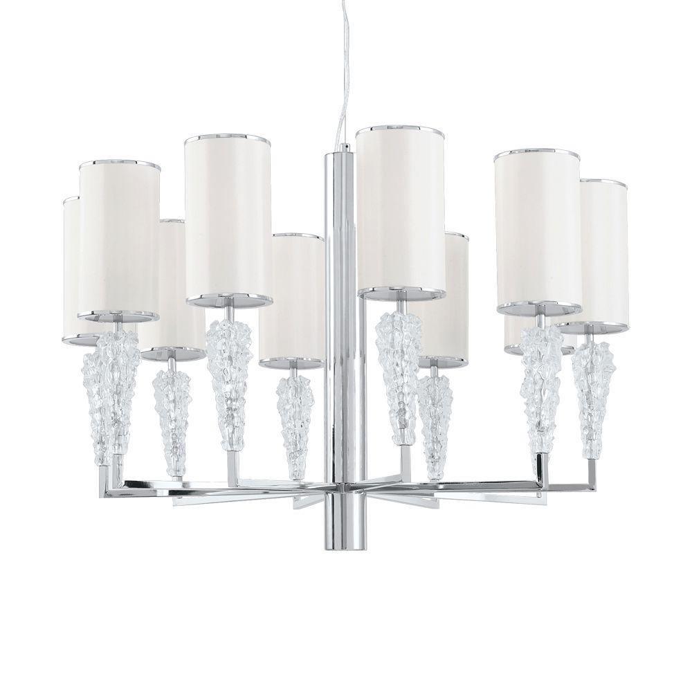 Eurofase Luxuria Collection 11-Light 95 in. Silver Chandelier-DISCONTINUED