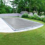 Ultra 18 ft. x 36 ft. Rectangular Dove Gray Solid In-Ground Winter Pool Cover