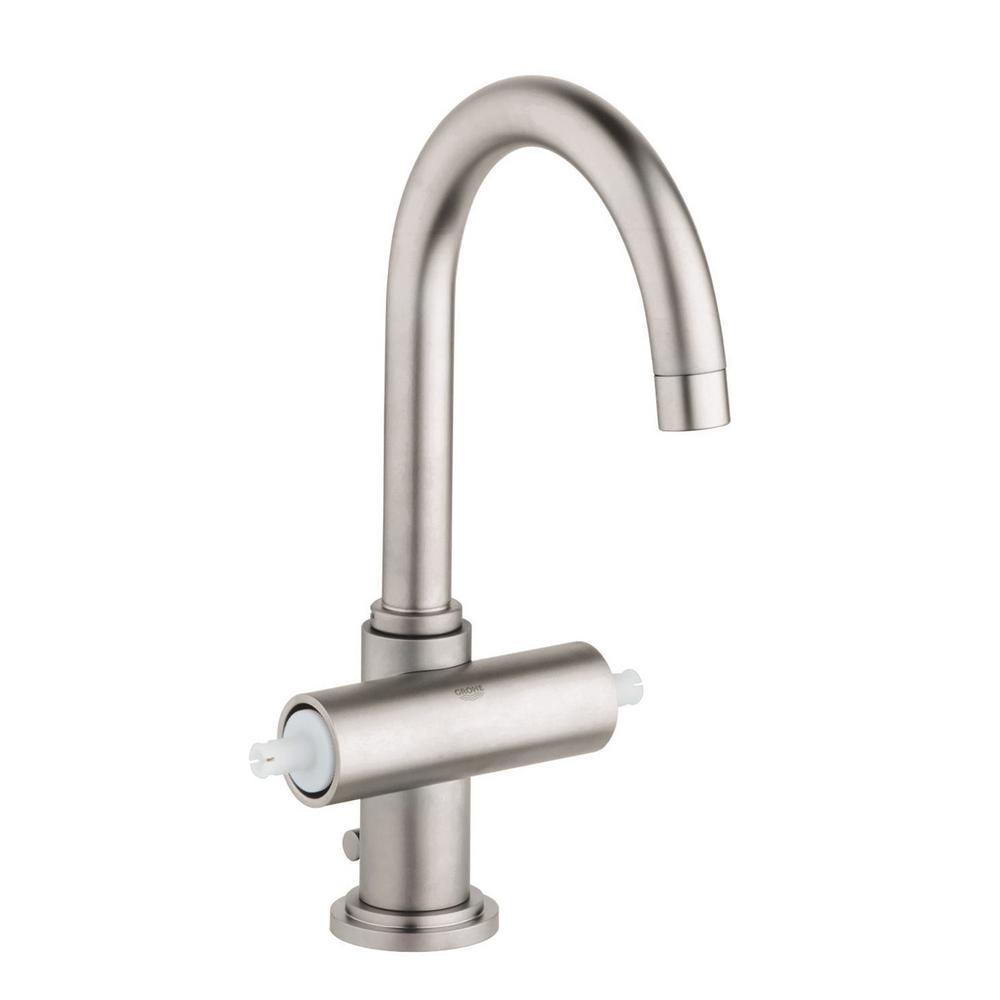Atrio Single Hole 2-Handle Bathroom Faucet in Nickel InfinityFinish