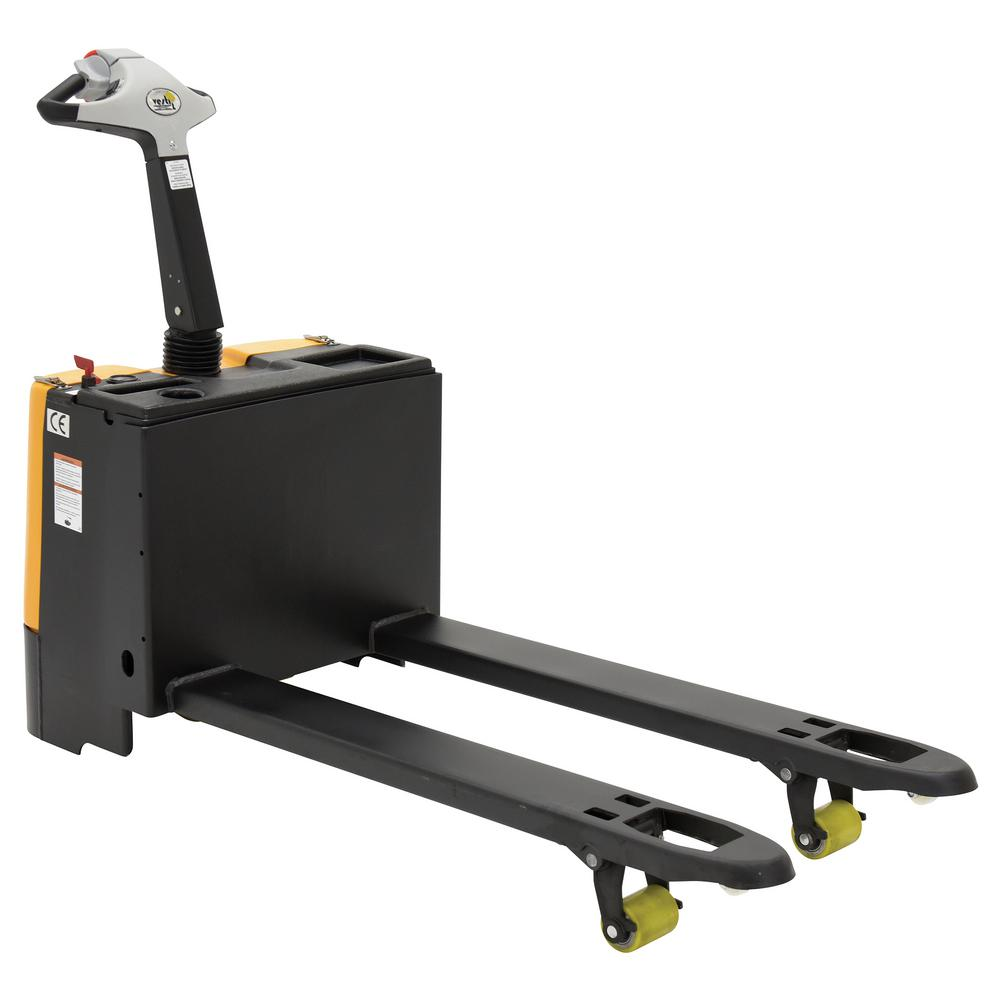 Vestil 3000 lb capacity 25 in x 47 in electric pallet for Motorized pallet jack rental