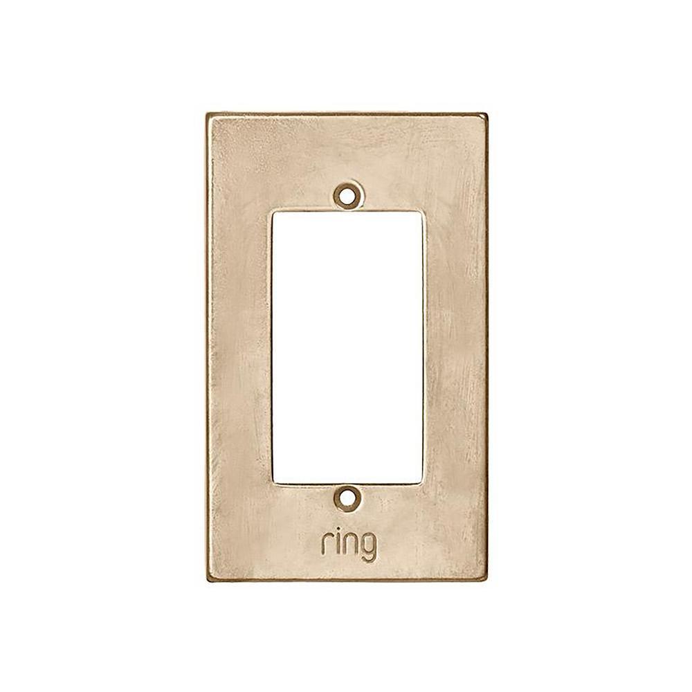Wired Video Door Bell Elite Silicon Bronze Light Faceplate