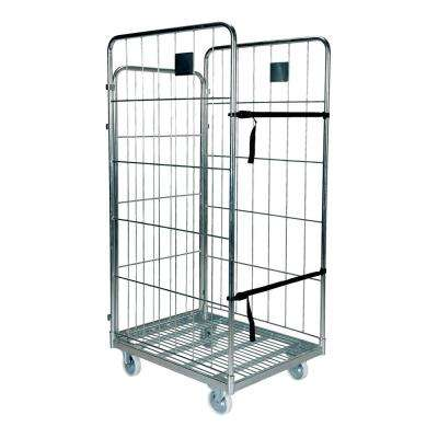 26.25 in. x 66 in. Galvanized Nestable Roller Container