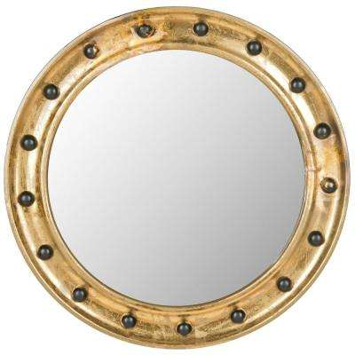 Mariner Porthole 26.5 in. x 26.5 in. Iron Framed Mirror