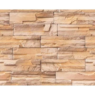 Double Roll Madrid Bronze Brick Stone Peel and Stick 3D Effect Self Adhesive DIY Wallpaper (covers 64,62 sq. ft.)