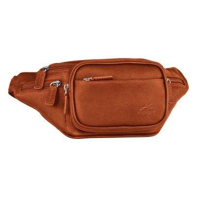Classic 12 in. Cognac Waist Bag