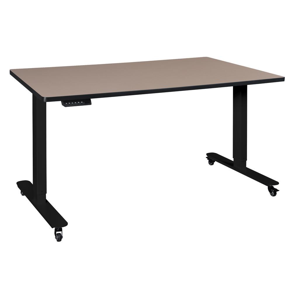 Esteem Beige 60 in. Height Adjustable Power Desk