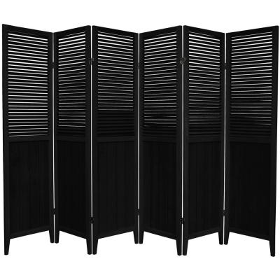6 ft. Black 6-Panel Room Divider