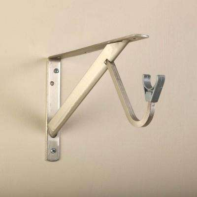 11-1/4 in. Heavy-Duty Brushed Nickel Shelf and Rod Bracket