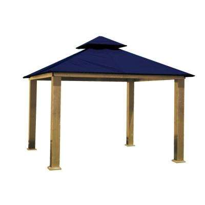 12 ft. x 12 ft. ACACIA Aluminum Gazebo with Admiral Navy Canopy