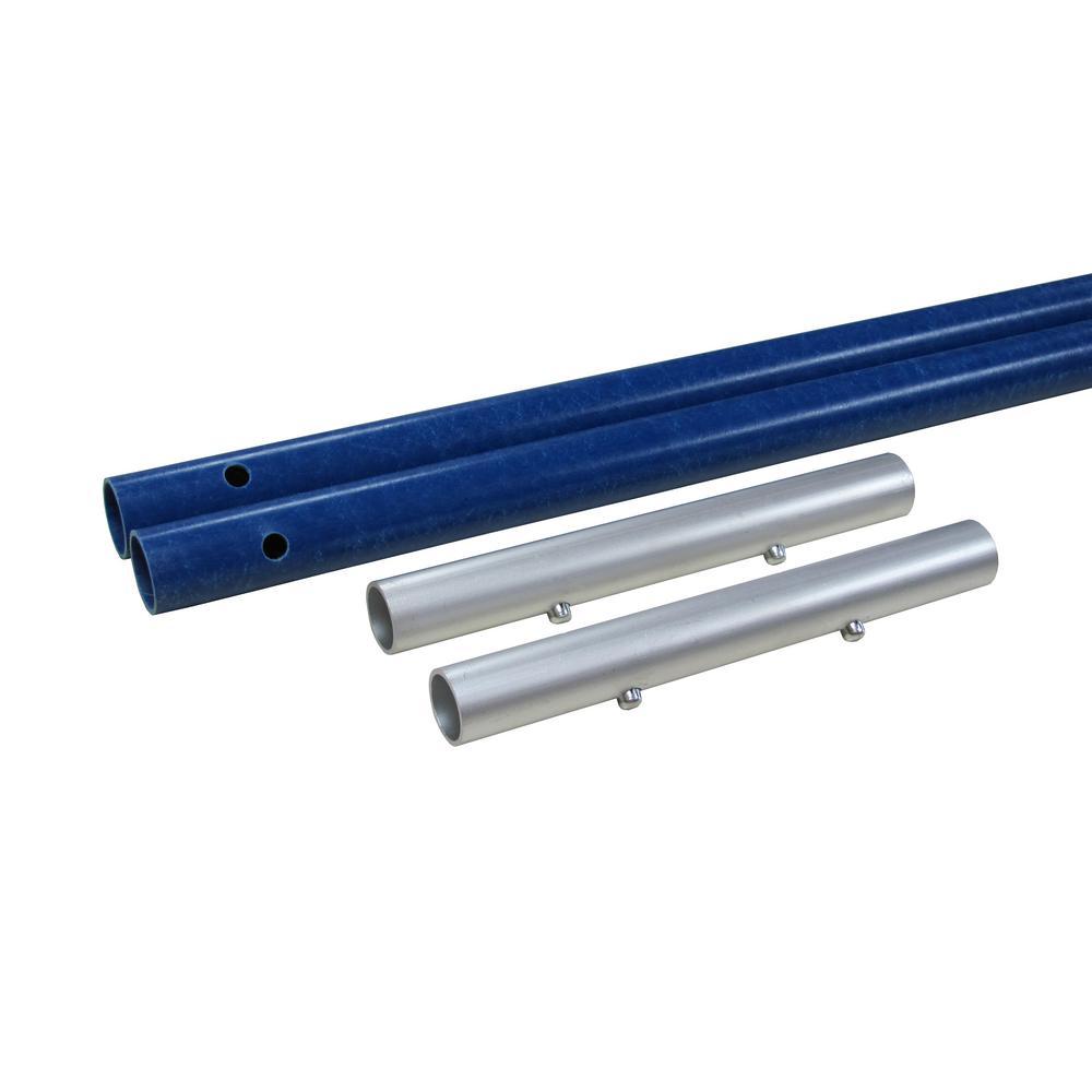 AVA Roof Rake Series 8 ft. Fiberglass Pole Extension Set