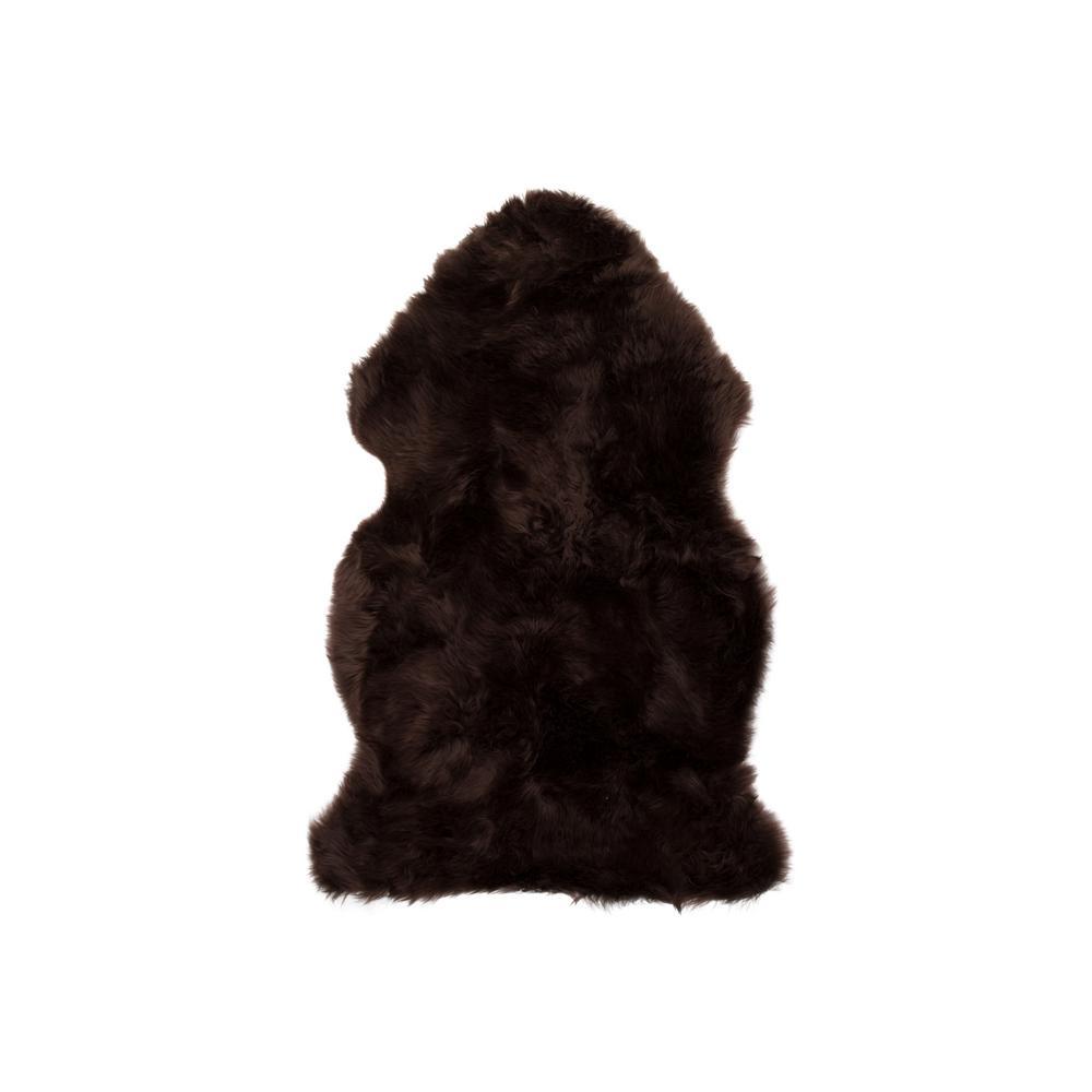 New Zealand Chocolate 2 ft. x 3 ft. Single Sheepskin Area Rug