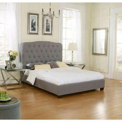 Madeline Blue and Gray Queen Upholstered Bed