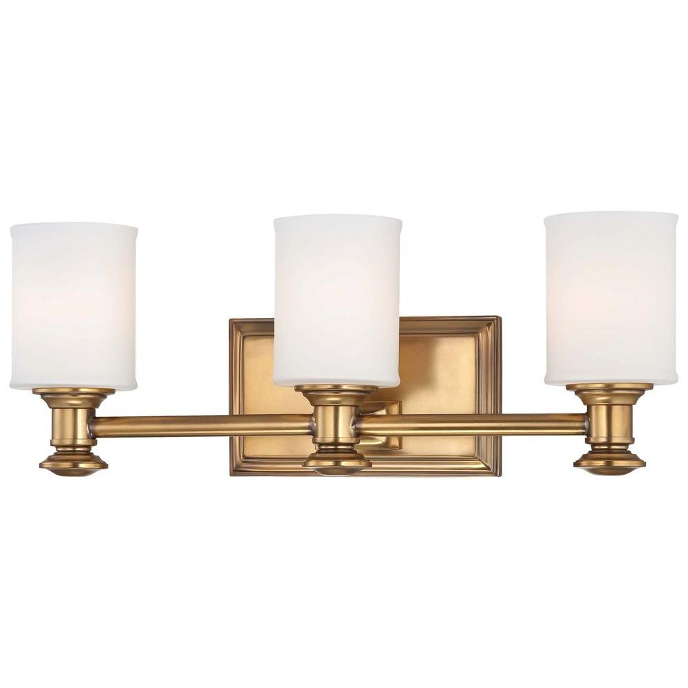 Minka Lavery Harbour Point Light Liberty Gold Bath Light - Minka lavery bathroom fixtures