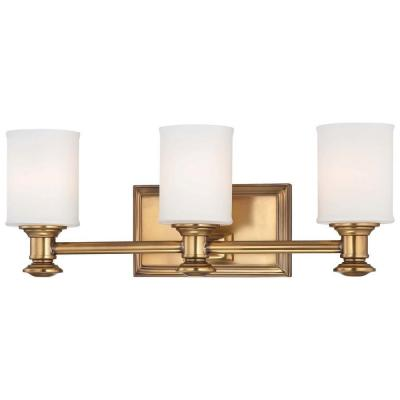 Harbour Point 3-Light Liberty Gold Bath Light