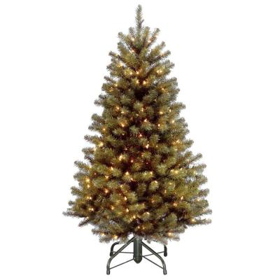 4.5 ft North Valley Spruce Artificial Christmas Tree with 200 White Mini Lights