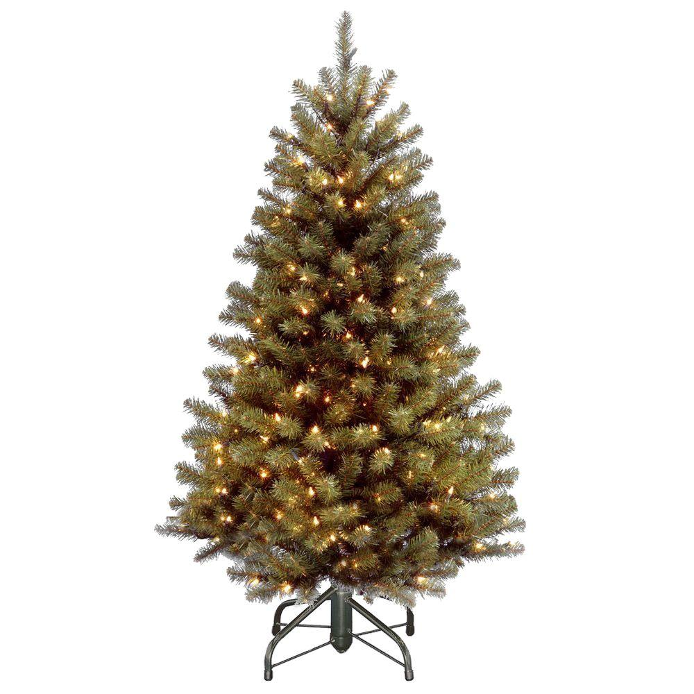 4.5 ft. North Valley Spruce Artificial Christmas Tree with 200 Clear