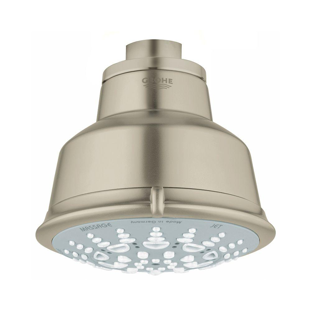 Relexa Rustic 5-Spray 3-15/16 in. Showerhead in Brushed Nickel InfinityFinish