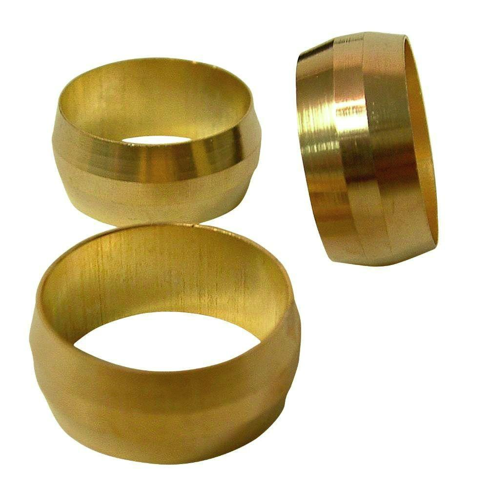 5 Pack Of 3//8 Air Compressor Brass Compression Connector Tube Sleeve Ferrules