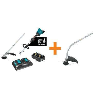 18-Volt X2 (36-Volt) LXT Brushless Couple Shaft Power Head Kit with Trimmer Attachment Curved String Trimmer Attachment