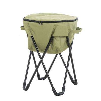 27 qt. Green Foldable Soft-Side Cooler