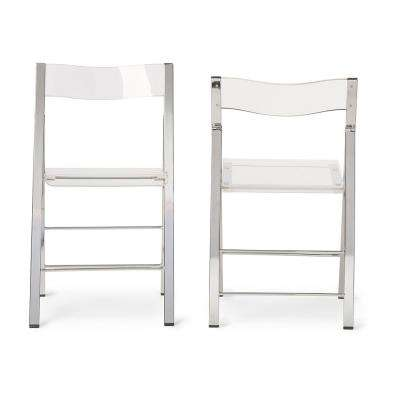 Clear Acrylic Folding Chair (Set Of 2)