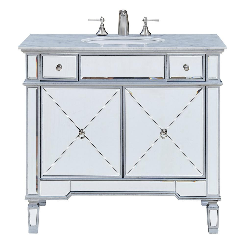 Brilliant Madison 36 In Single Bathroom Vanity With 2 Drawers 1 Shelf 2 Doors Marble Top Clear Mirror Finish Download Free Architecture Designs Rallybritishbridgeorg
