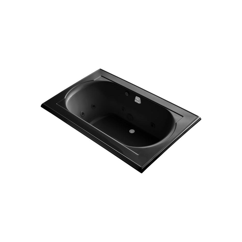 KOHLER Memoirs 5.5 ft. Whirlpool Tub in Black Black-DISCONTINUED