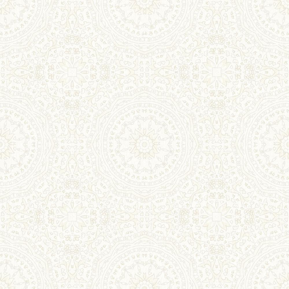 57.8 sq. ft. Marrakech Cream Medallion Wallpaper
