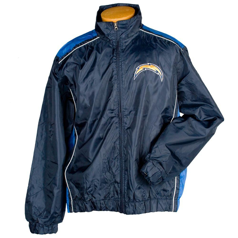 3G NFL Licensed Chargers Lightweight Full Zip Size XXL