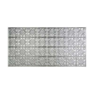 Traditional Style # 1 - 2 ft. x 4 ft. Vinyl Glue-Up Ceiling Tile in Brushed Aluminum