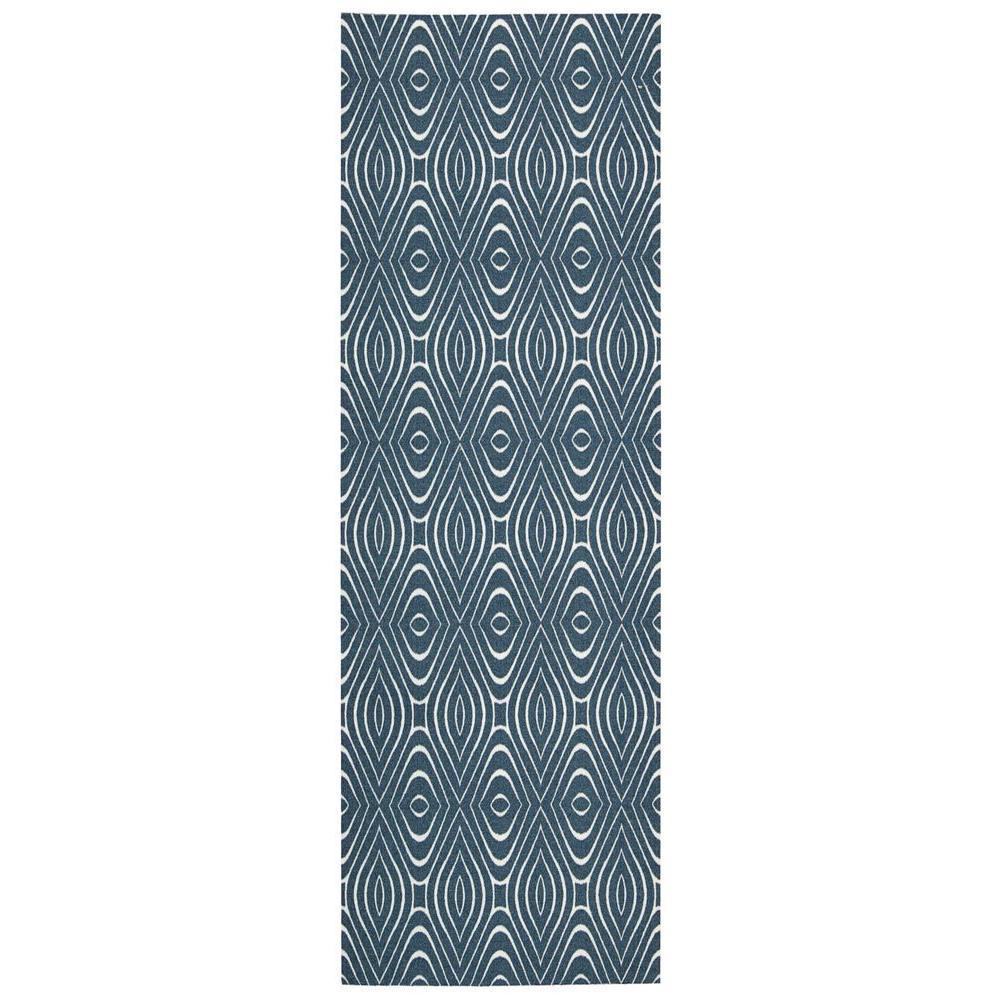 Nourison Overstock Enhance Cadet Blue 2 ft. 6 in. x 8 ft. Rug Runner