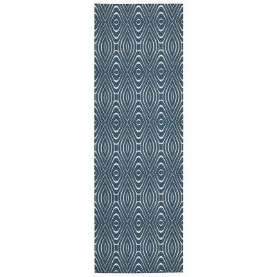 Enhance Cadet Blue 3 ft. x 8 ft. Runner Rug
