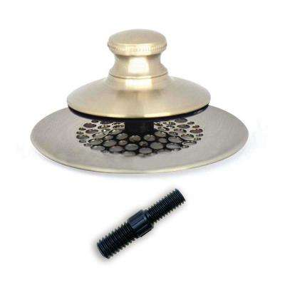 2.875 in. SimpliQuick Push Pull Bathtub Stopper, Grid Strainer and Composite Pin - Nickel