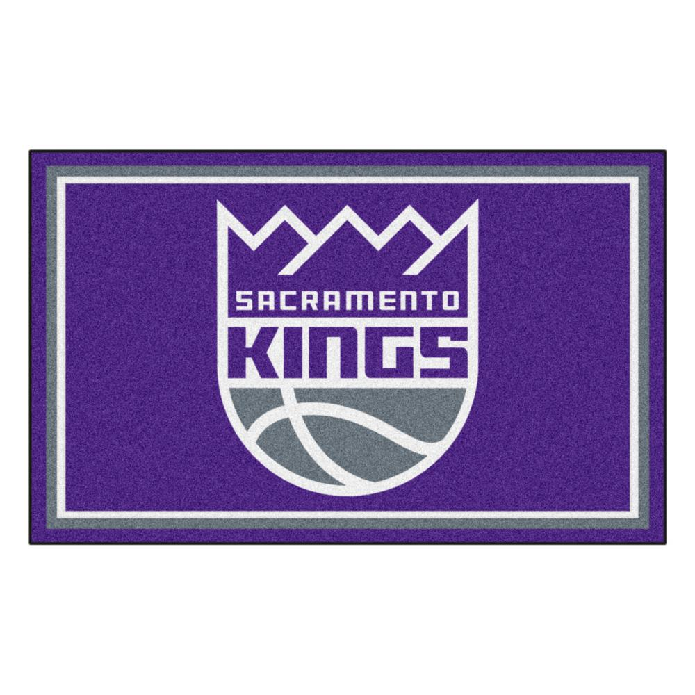 FANMATS NBA - Sacramento Kings Purple 4 ft. x 6 ft. Area Rug-20443 - The  Home Depot