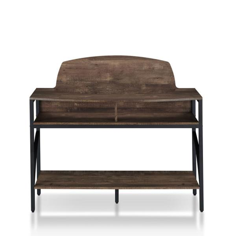 Furniture of America Christoff Reclaimed Oak Console Table FGI-18900C25
