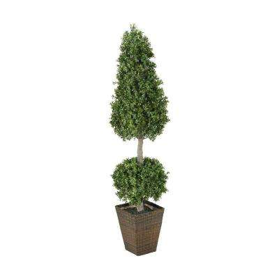Racine 6 ft. Cone and Sphere Topiary