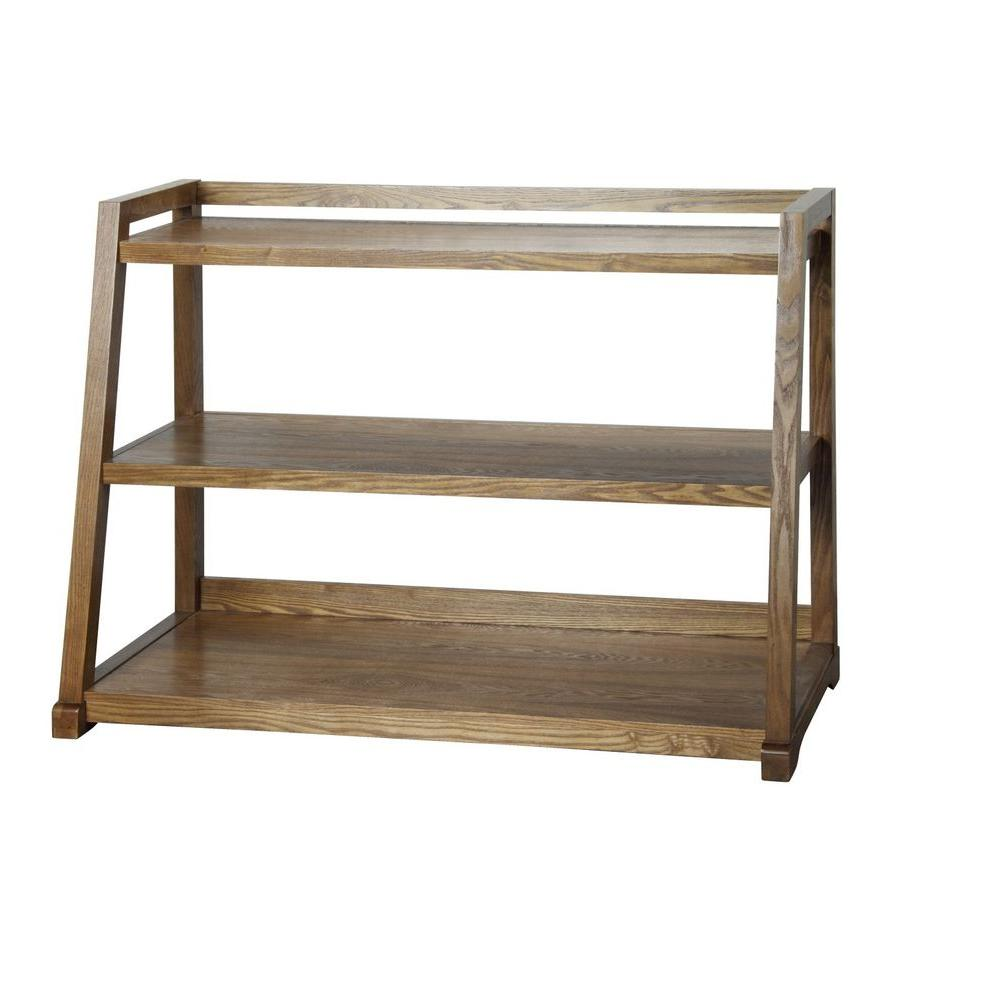 Home Decorators Collection Kelman 3-Shelf Bookcase in Oak-DISCONTINUED