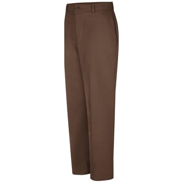 Red Kap Men S Size 32 In X 34 In Brown Wrinkle Resistant Cotton Work Pant Pc20bn 32 34 The Home Depot